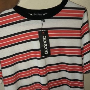 Red striped t shirt